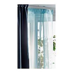 SANELA Curtains 1 Pair Light Turquoise