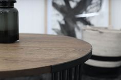 The Lexx Coffee table by Dark Horse. A modern round coffee table made from dark stained oak and mild steel framework. Round Coffee Table Modern, South African Design, Dark Horse, Modern Furniture, Horses, Led, Steel, Horse, Steel Grades