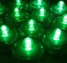 Pack of 36 - Green - Submersible Waterproof Underwater Tea Light Sub Lights Battery LED TeaLight ~ Wedding Centerpieces, Decor~BlueDot Trading Bluedot Trading,http://www.amazon.com/dp/B00FL3BVU4/ref=cm_sw_r_pi_dp_AcVntb1Z9V1GD82B