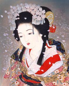 女性イラスト 歌舞伎連作 金閣寺 雪姫 [Kisho Tsukuda]