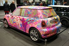 Mini Cooper With A Pink Bow Pink Bow Minicooper We