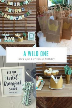 Wild one birthday - where the wild things are birthday party ideas - wild one birthday