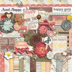 Digital Scrapbook Kit, Happy Girls by Traci Reed