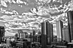 Calgary Skyline - Fine Art Photography - Wall Art - Home Decor - Black&White Art - Instant Download - 300 dpi - 5472 x 3648 pix by BeeJayPhoto on Etsy