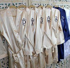 d65cf474cb Bridesmaid Robe Set 7 - Monogrammed Bridesmaid Robes - Bridal Party Robe Set  - Affordable - Personalized Robes - Silk Robes - Satin Robes