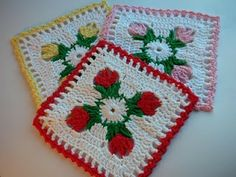 Whiskers & Wool: Tulip Dishcloth Crochet Pattern - FREE click on the link