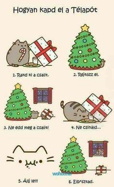 Pusheen the Cat: Merry Christmas cat setting Christmas Santa trap! Pusheen Christmas, Christmas Comics, Christmas Humor, Christmas Time, Santa Christmas, Winter Christmas, Christmas Pranks, Merry Christmas Funny, Christmas Stuff