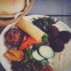 dinner @ dada falafel berlin