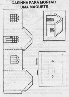 Com osmolde de casas de papel para montar é possível fazer maquetes para trabalho escolar ou de algum curso, pensando em praticidade e no ...