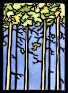 Trees - part of a new alphabet series of art created by Sarah Angst Fine Artist & Printmaker in Bozeman, Montana. #trees