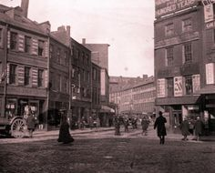 Scollay Square, Boston.  Torn down completely. Now it's Government Center.