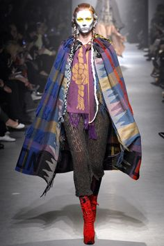 """Vivienne Westwood autumn/winter 2013-14  """"I had a book about illuminated manuscripts and it was appealing because of the art and the method of painting and so then it became more about looking at medieval things - stained glass windows and pageants more than the paintings,"""" explained the designer before the show."""