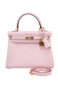 Hermes Rose Sakura Swift 25cm Kelly Bag with Gold Hardware - my new obsession. I must have this bag!