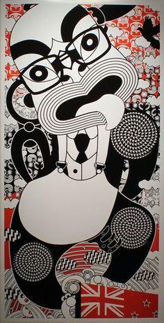 Ko Aotearoa Tenei by Johnson Witehira //David Lange design graphics art Maori Patterns, Flax Weaving, Polynesian Art, Creation Myth, Maori Designs, Nz Art, Maori Art, Creative Background, Kiwiana