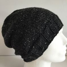 Slouchy Beanie Hat Unisex Hats Hand Knit Hats by JCLeecollection