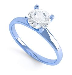 Blue Gold Engagement Ring. YES!