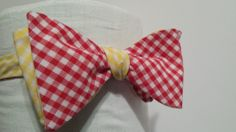 Red and Yellow Bow Tie by Phi Ties