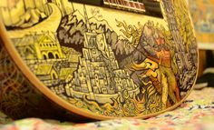 Lord of the Rings guitar, done in sharpie by Vivian Xiao