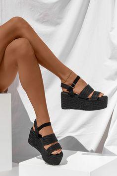 Πλατφόρμες με Ψάθα - LUIGI Luigi, Platform, Heels, Boots, Fashion, Heel, Crotch Boots, Moda, Fashion Styles