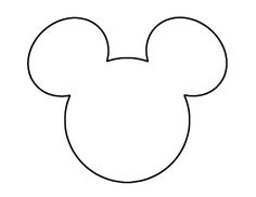 Mickey Mouse Ears Head Outline