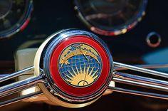 Volkswagen Images by Jill Reger - Images of Volkswagens - VW Images - 1956 Rometsch Beeskow Sports Cabriolet Volkswagen Vw Steering Wheel
