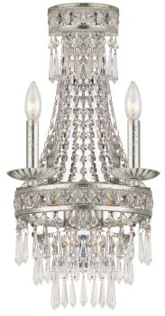 Wall Sconce - Crystorama - Mercer Collection - Olde Silver Finish