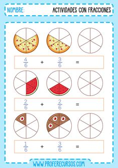 Fractions Worksheets, Teaching Fractions, English Grammar For Kids, 5th Grades, Anchor Charts, Special Education, Homeschool, Math, Learning