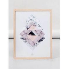 Organic Square plakat med ramme A4 artwork