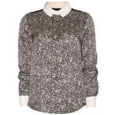 Chloé Printed Silk Shirt found on Polyvore