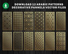 Natural Pattern / Panel Templates / Vector File. The best | Etsy