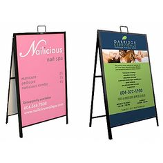 """This 36"""" x 24"""" A Frame stand advertises your artwork professionally. The easel stand is constructed from lightweight aluminum, strong to be able to endure the abuse typical of heavily outdoor and indoor trafficked areas. The easel stand comes in black finish, ideal for coordinating with any decor. The easel stand, also known as A frame display stand, are commonly seen in front of art galleries, museums, restaurants, lobbies, meetings and ball room events.    The easel stand can be…"""