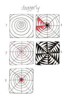 Op art, also known as optical art, is a style of visual art that uses optical illusions. Op art works are abstract, with many better-known pieces created in black and white. Art Doodle, Tangle Doodle, Tangle Art, Zentangle Drawings, Doodles Zentangles, Doodle Drawings, Op Art Lessons, Drawing Lessons, Doodle Patterns