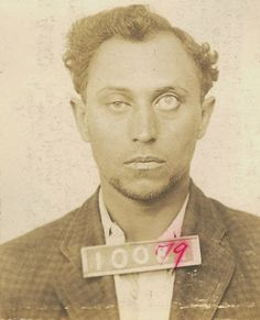 A circa 1920's San Quentin prisoner with a glass eye.
