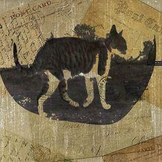 Cat Travels #Cat #CatLovers #ArtforSale @grimalkinart