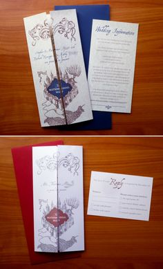 harry potter marauders map wedding invitations by noteworthyinkdesigns 5000 - Harry Potter Wedding Invitations