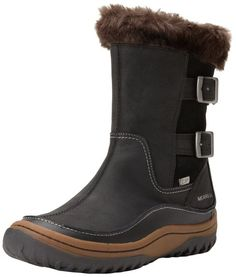 rec by mumsnet - Merrell Decora Chant Waterproof, Women's Snow Boots, J48420, Black (Black), 3.5 UK