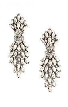 edition01.com Crystal Burst Drop Earrings