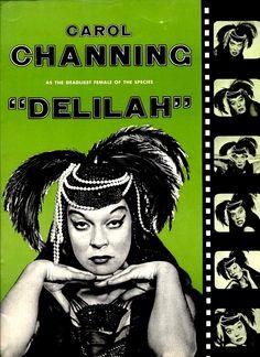 "Carol Channing ""Delilah"" (The Vamp) Pre-Broadway Souvenir Program cover page 1955 a"