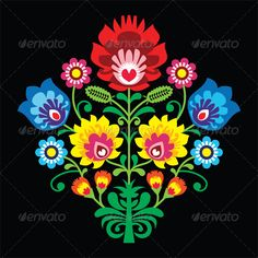 Flower Embroidery  - Patterns Decorative