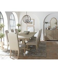 Furniture Rachael Ray Monteverdi Dining Furniture, 7-Pc. Set (Table & 6 Upholstered Side Chairs) & Reviews - Furniture - Macy's Bedroom Furniture Sets, Dining Room Furniture, Dining Room Table, Furniture Mattress, Bedroom Ideas, Restoration Hardware Dining Table, Dining Table Online, Living Room Essentials, Monteverde
