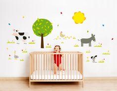 Vinilo infantil Granja de Bumoon. Farm Wallsticker de Bumoon. #granja #farm #bumoon #vinilo #wallsticker #decoracion #decoration #pared #wall #home #casa #kids #ninos.