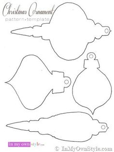 Semi-Handmade Paper Christmas Ornaments Looking for easy to make Christmas ornaments? Check out these semi-handmade Christmas ornaments to decorate your tree using paper. Printable Christmas Ornaments, Christmas Templates, Christmas Ornaments To Make, Noel Christmas, Christmas Colors, Christmas Projects, Handmade Christmas, Christmas Crafts, Christmas Decorations