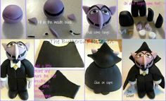 Dracula cake topper tutorial from The Buttercup Kitchen.