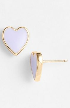 Lavender heart studs by kate spade Cute Jewelry, Jewelry Box, Jewelery, Jewelry Accessories, Fashion Accessories, Fashion Jewelry, Piercings, Bling Bling, Diamond Are A Girls Best Friend