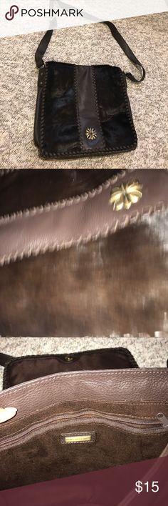 Aqua Madonna Bag Brown Aqua Madonna cross body bag. Real leather and fur. Great condition Aqua Madonna Bags Crossbody Bags