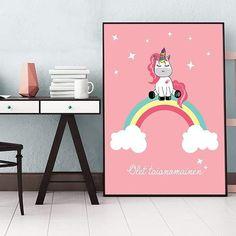 #yksisarvinen #unicorn #lastenhuone #sisustus #interior #poster #juliste #tyttö