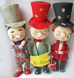 Vintage Christmas Choir Trio Noel Japan Tag by WeirdeeGirlVintage, $8.99