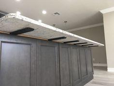 Bar brackets hidden granite countertop support brackets for kitchen island. Floating Shelf Hardware, Floating Cabinets, Floating Vanity, Floating Shelves, Kitchen Reno, Diy Kitchen, Kitchen Island, Kitchen Cabinets, Cabinet Island