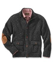 Experience softness for years to come with our men's wool cardigan sweater.