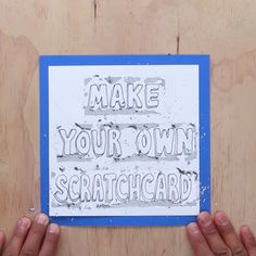 NMake Your Own Scratchcard #diy #cards #birthday #scratchcard #nifty